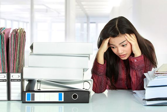 woman dealing with work related stress
